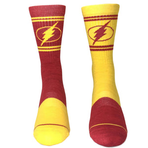 DC Comics Flash Flipped Colors Athletic Superhero Socks - The Sock Spot