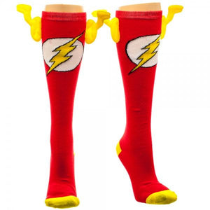 DC Comics Flash Knee High 3D Socks with Wings - The Sock Spot