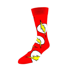 DC Comics Flash Large All Over Print Superhero Socks - The Sock Spot