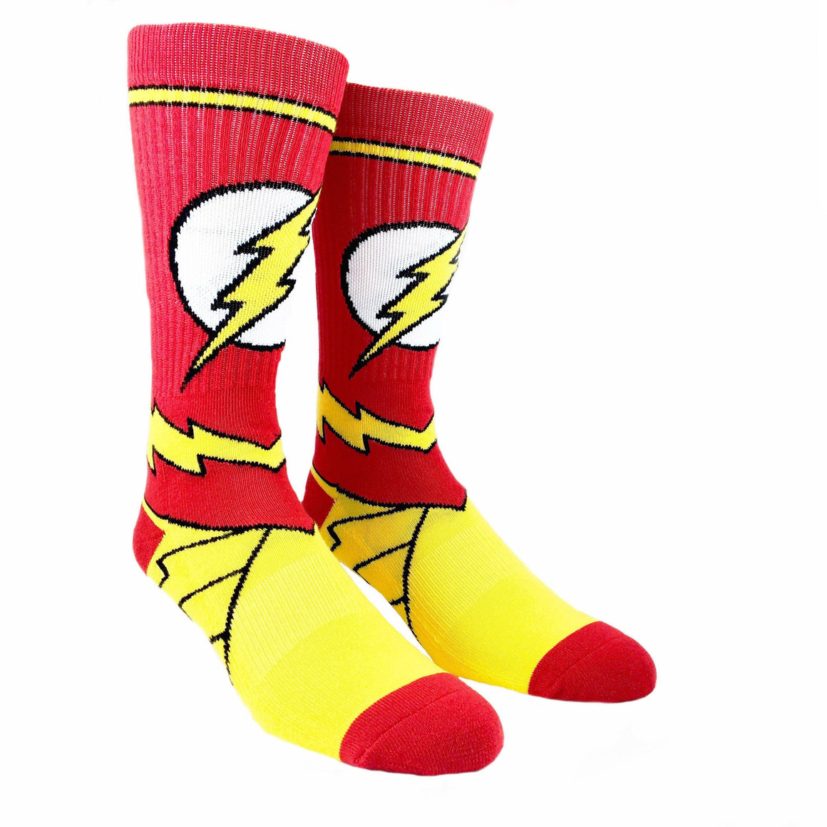 DC Comics Flash Suit Up Athletic Socks - The Sock Spot