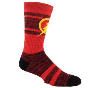 DC Comics Flash Varsity Athletic Socks - The Sock Spot