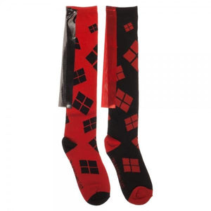 DC Comics Harley Quinn Cape Knee High Socks - The Sock Spot