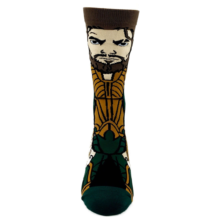 b2c78173b69 DC Comics Justice League Aquaman 360 Superhero Socks - The Sock Spot