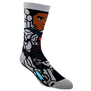 DC Comics Justice League Cyborg 360 Superhero Socks - The Sock Spot