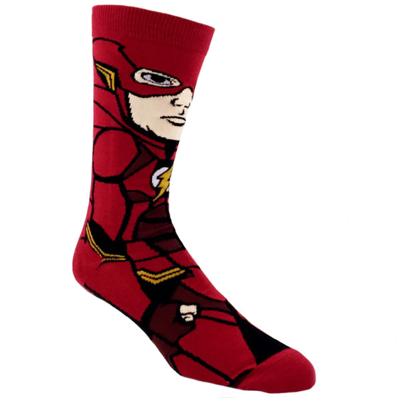 DC Comics Justice League Flash 360 Superhero Socks - The Sock Spot