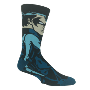 DC Comics Nightwing 360 Superhero Socks - The Sock Spot