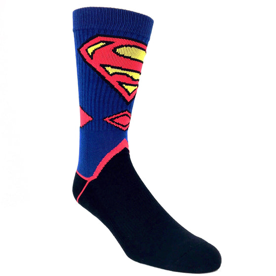 DC Comics Superman Suit Up Athletic Socks - The Sock Spot