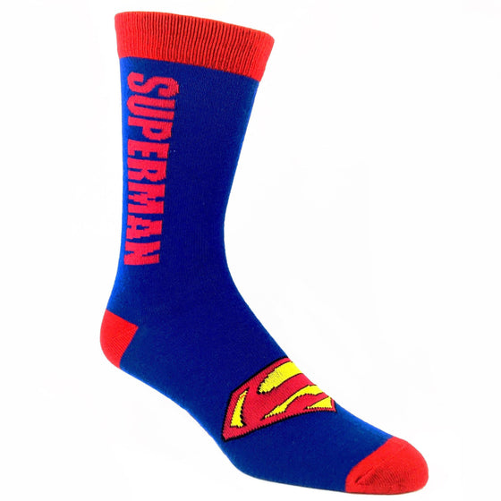DC Comics Superman Vertical Socks - The Sock Spot