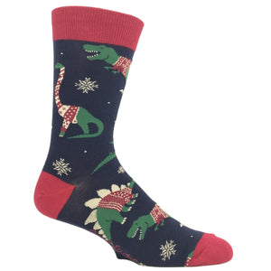 Dinosaurs in Christmas Sweaters Socks by Good Luck Sock - The Sock Spot