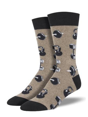 Do You Even Lift, Bro? in Brown Men's Socks by SockSmith - The Sock Spot