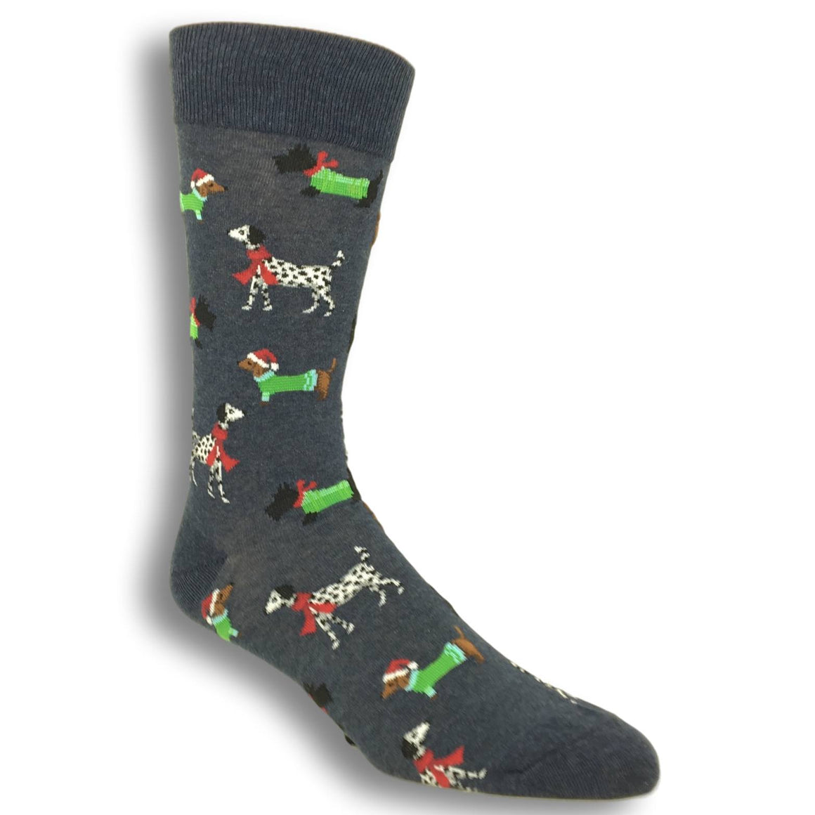 Doggies For Christmas Socks in Denim by Hot Sox - The Sock Spot