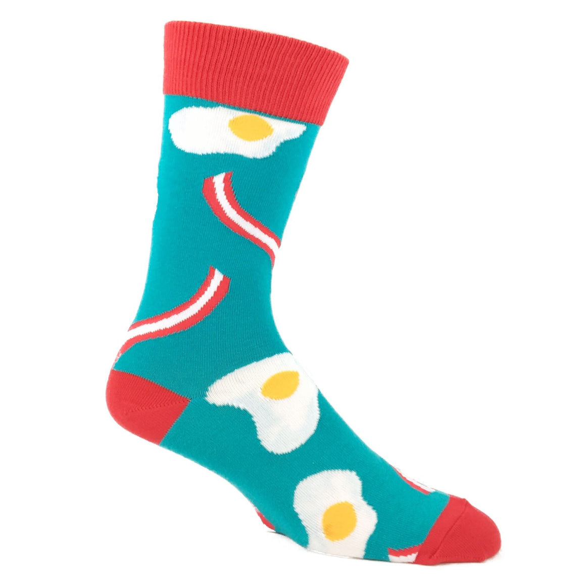 Eggs and Bacon Food Socks in Teal by SockSmith - The Sock Spot