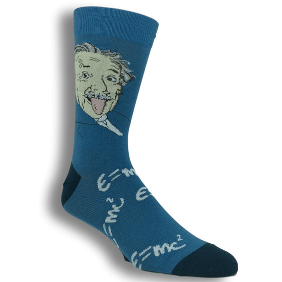 Einstein E=MC Squared Socks by Good Luck Sock - The Sock Spot