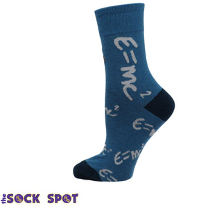 Einstein E=MC Squared Women's Socks by Good Luck Sock - The Sock Spot