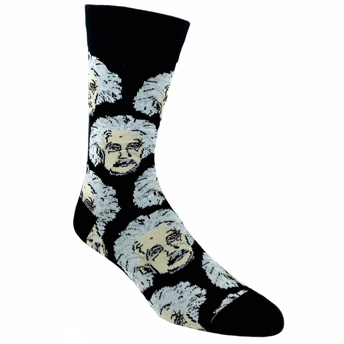 Einstein Genius Socks in Black by SockSmith - The Sock Spot