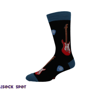 Electric Guitars Men's Socks in Black by SockSmith - The Sock Spot