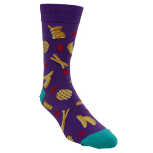 Everyday is Fry-Day Men's Socks by Sock it to Me - The Sock Spot