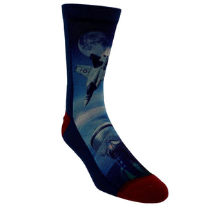 F-18 Fighter Jets Printed Men's Socks by Good Luck Sock - The Sock Spot