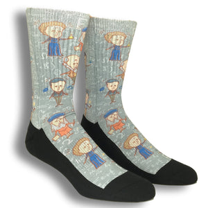 Famous Scientists Printed Socks by Good Luck Sock - The Sock Spot