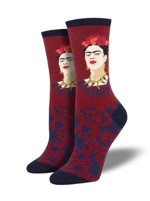 Fearless Frida Women's Socks in Red by SockSmith - The Sock Spot