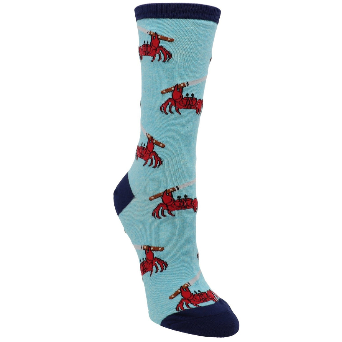 Feeling Crabby in Blue Women's Socks by SockSmith - The Sock Spot