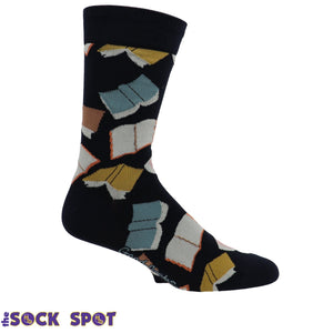 Flying Books Men's Socks by Good Luck Sock - The Sock Spot