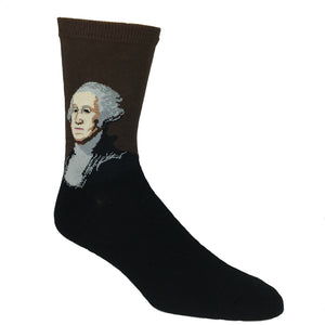 George Washington Men's Art Socks by Hot Sox - The Sock Spot
