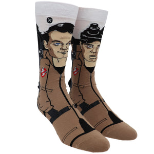 Ghostbusters Venkman & Stanton 360 Cartoon Socks by Odd Sox - The Sock Spot