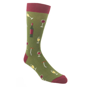 Glasses of Wine Socks by Foot Traffic - The Sock Spot