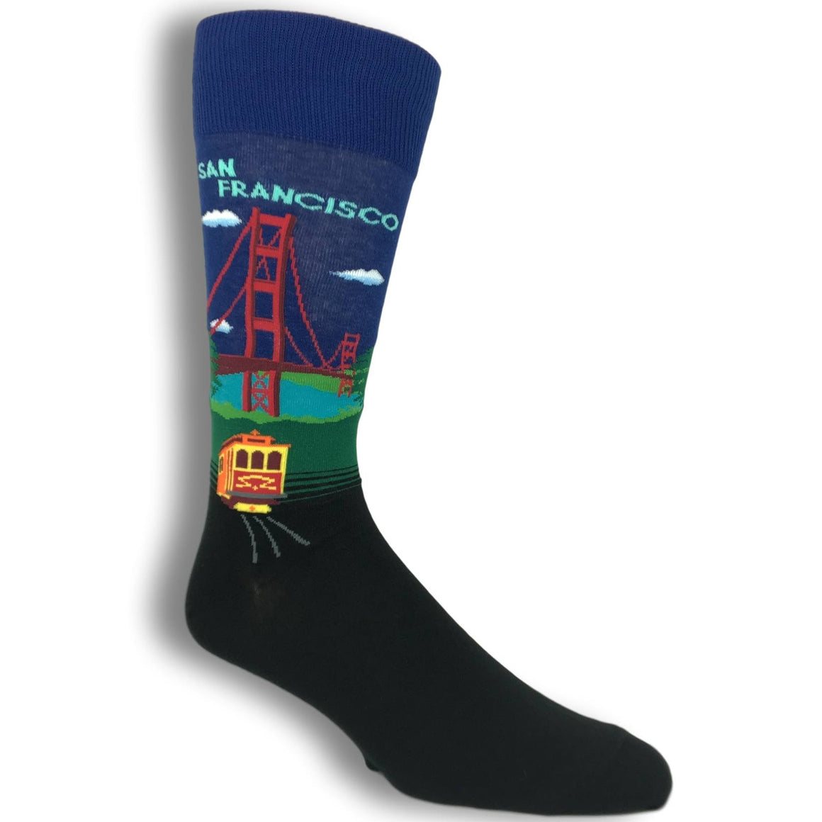 Golden Gate Bridge San Francisco Socks by Hot Sox - The Sock Spot