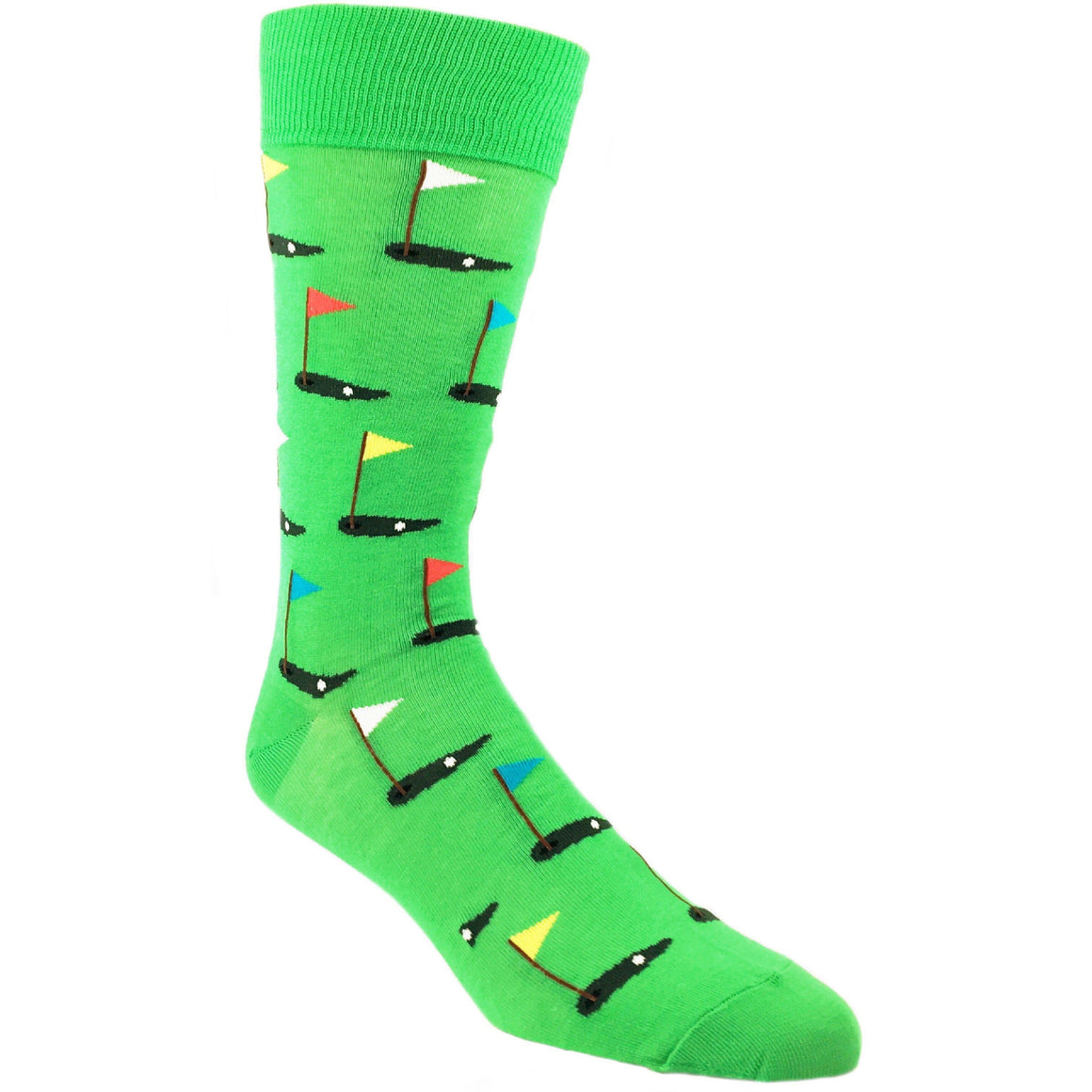 Golf Socks in Green by Hot Sox - The Sock Spot