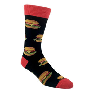 Good Burger Food Socks In Black by SockSmith - The Sock Spot