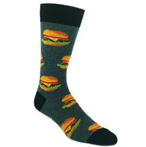 Good Burger Food Socks In Grey by SockSmith - The Sock Spot