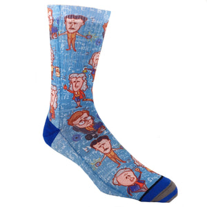 Greatest Scientists Printed Socks by Good Luck Sock - The Sock Spot