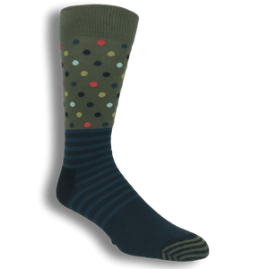 Green and Blue Stripes & Dots Socks by Happy Socks - The Sock Spot
