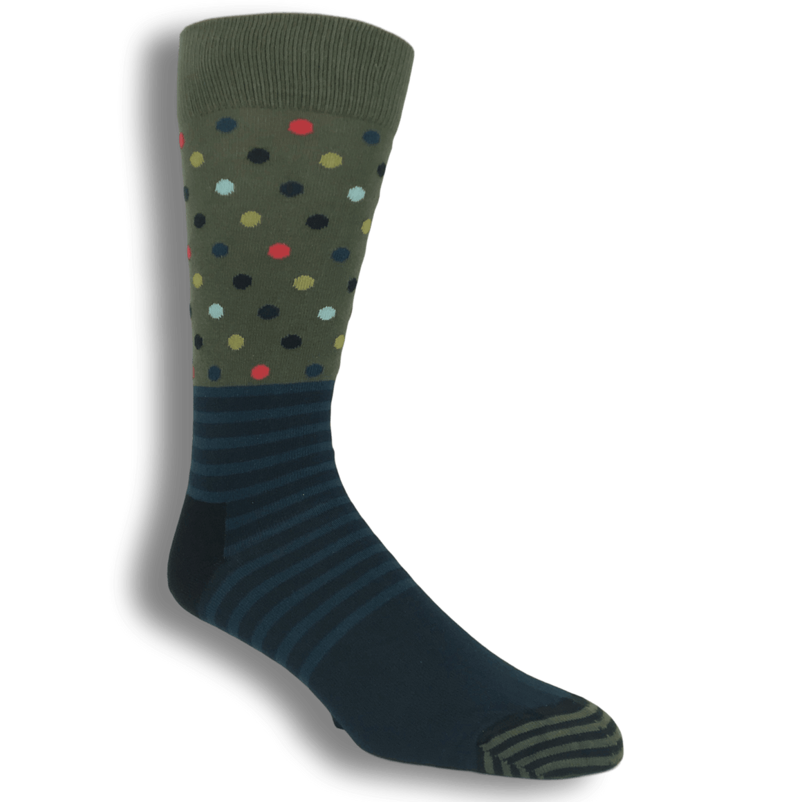 Socks - Green And Blue Stripes & Dots Socks By Happy Socks
