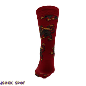 Griffin Men's Socks in Red by SockSmith - The Sock Spot