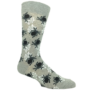 Halloween Spiders in Grey by Hot Sox - The Sock Spot