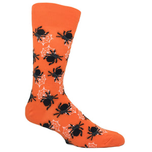 Halloween Spiders in Orange by Hot Sox - The Sock Spot