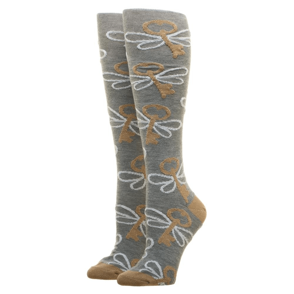 Lurex Flying Keys Harry Potter Knee High Socks - The Sock Spot