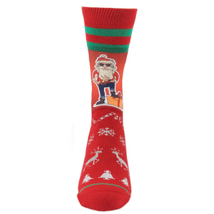Socks - Hip Santa Printed Christmas Socks