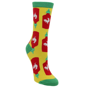 Socks - Holy Sriracha Women's Socks By Oooh Yeah Socks