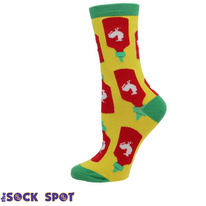 Holy Sriracha Women's Socks by Oooh Yeah Socks - The Sock Spot