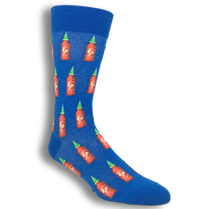 Socks - Hot Sauce Socks In Blue By Hot Sox