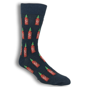 Socks - Hot Sauce Socks In Denim By Hot Sox