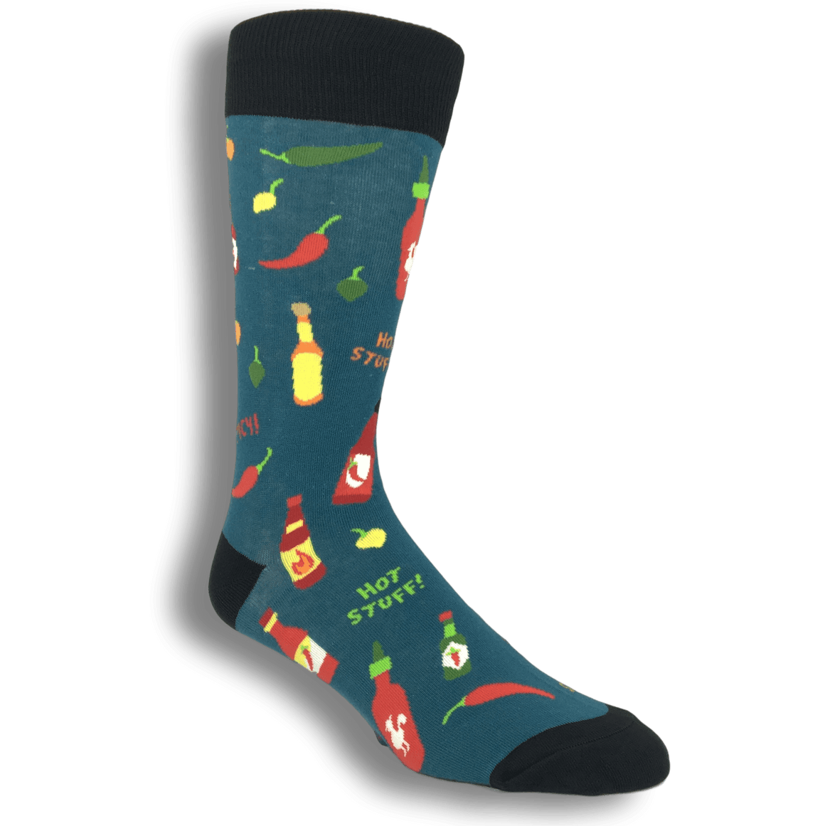 Hot Stuff Peppers and Hot Sauce Socks by Foot Traffic - The Sock Spot