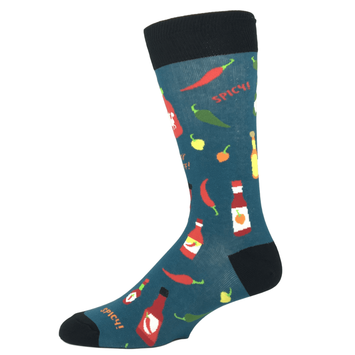 Socks - Hot Stuff Peppers And Hot Sauce Socks By Foot Traffic