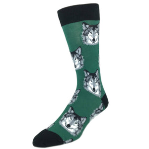 Hungry Like The Wolf Socks in Green by SockSmith - The Sock Spot