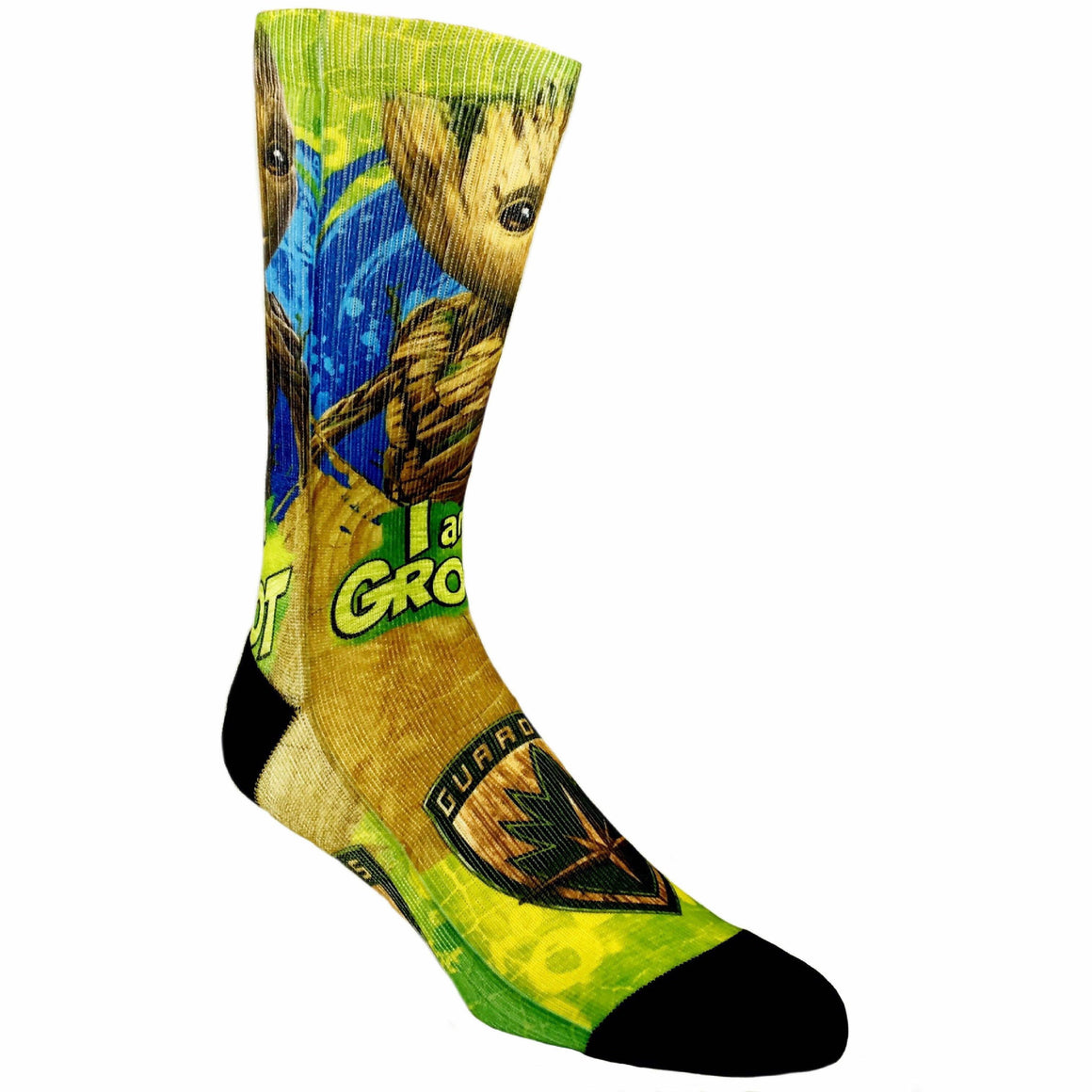 Marvel Guardians of the Galaxy I Am Groot Printed Superhero Socks - The Sock Spot