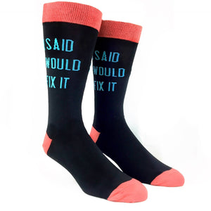 I Said I Would Fix It Socks by K.Bell - The Sock Spot